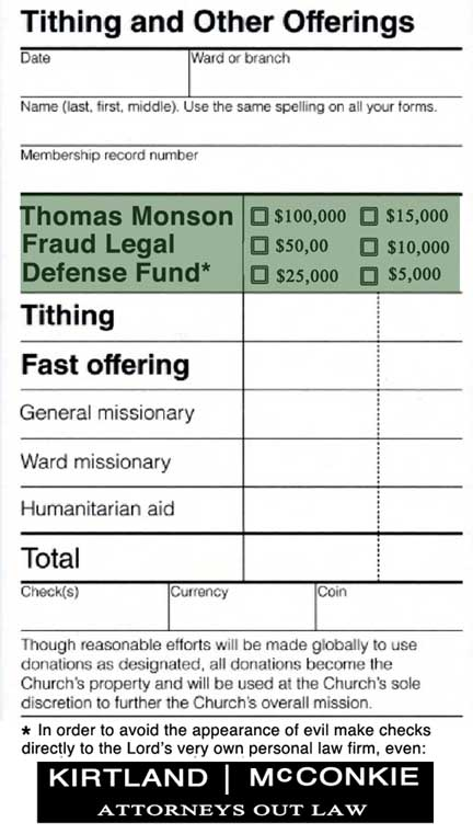 Lds tithing gay marriage